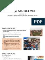 Rural Market Visit
