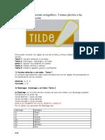 Uso de La Tilde o Acento Ortográfico