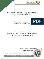 Manual de Organización de La Segunda Regiduría