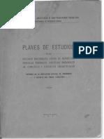 Planes de Estudios 1941