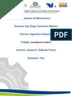 Unidad 2 Sistemas de Manufactura (Gallardo)
