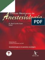 Anestesiologia en El Paciente Oncologico