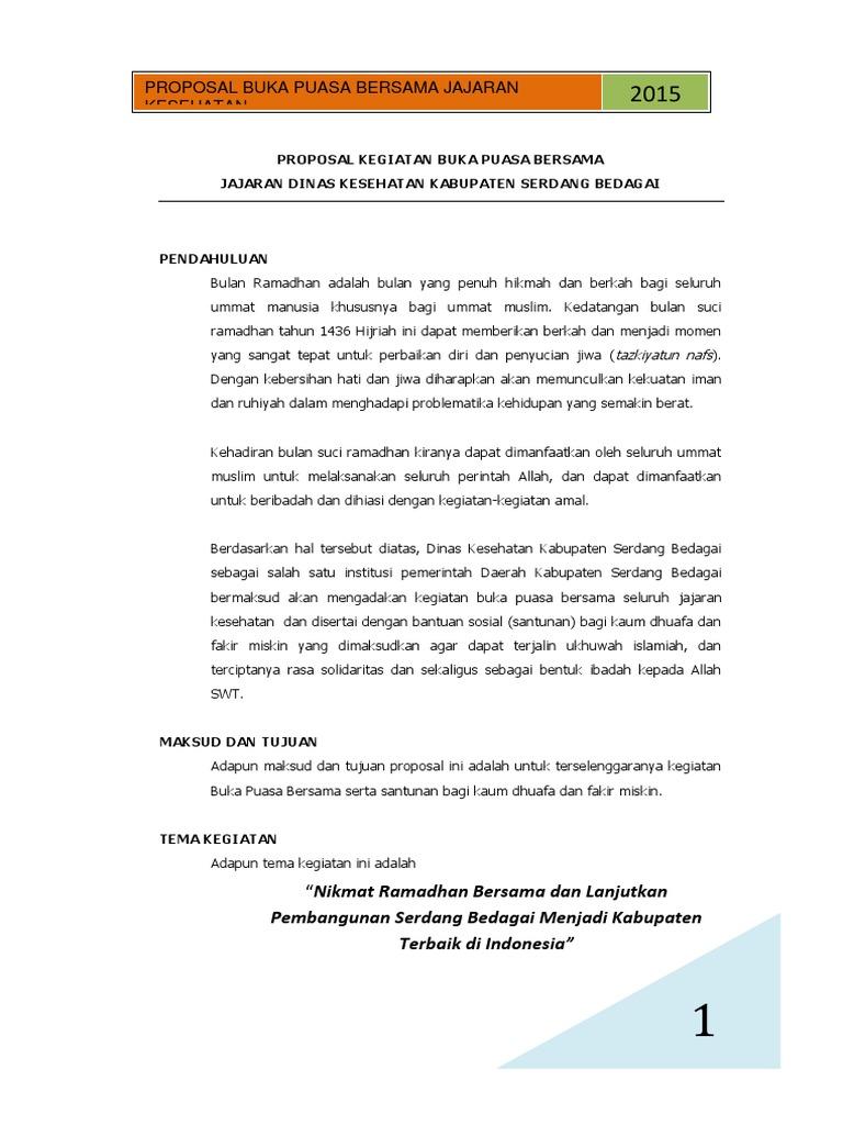 Proposal Buka Puasa Bersama