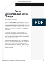 Essay on Social Legislation and Social Change