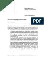 Lettre Du CIO - 28 Novembre 2017