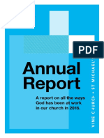 2016 Vine Church Annual Report