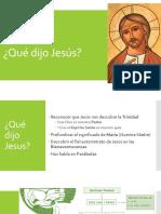 Qué Dijo Jesús