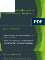 Habilidades Para La Organización y Planeación