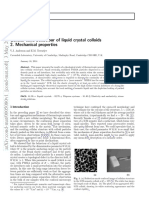 Cellular Solid Behaviour of Liquid Crystal Colloids 2. Mechanical Properties