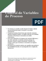 Control de Variables de Proceso
