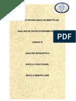 Unidad 4 Analisis Estadistico