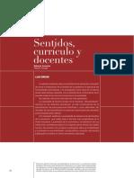 Sentidos Curriculo Docentes Carneiro