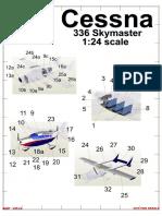 Cessna Skymaster Model 336 Aircraft Paper Model