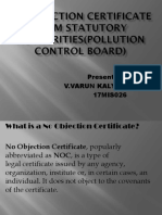 No Objection Certificate
