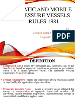 Static and Mobile Pressure Vessels Rules 1981
