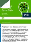 HP ProLiant BL685c G5 Server Blade Customer Presentation 072808