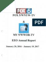 Annual EEO January 20 2016 January 19 2017