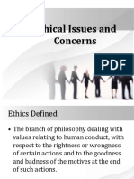 Ethical Issues and Concerns