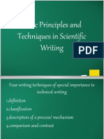 Basic Principles and Techniques in Scientific Writing