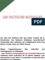 Facteurs biotiques (1)
