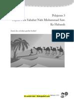 Pelajaran 3 Hijrah Para Sahabat Nabi Muhammad SAW Ke Habasah