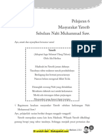 Pelajaran 6 Masyarakat Yatsrib Sebelum Nabi Muhammad SAW