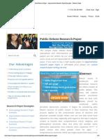 Public Debate Research Paper ⋆ Argumentative Research Paper Examples ⋆ Research Paper