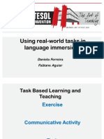 Using Real World Task in Language Immersions