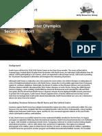 South Korea Winter Olympics Security Report