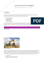 Construction detailed notes for equipment.docx