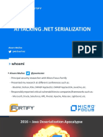 Attacking NET Serialization