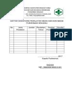 EP1. Daftar Inventaris Alat