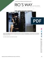 Wong Kar Wai and Fashion