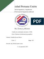 Cambio de coordenadas decimales a U.T.M. con programa ArcGIS 10.5