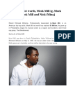 Meek Mill Net worth, Meek Mill ig, Meek Mill age, Meek Mill and Nicki Minaj