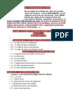 Cours d'Introduction Au Droit