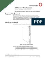 255700415_V1_PacketStar PSAX 2300 Stratum 3...4 Module Description and Specifications Model 23N05