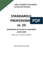Standardul Profesional 23 ( Ed. III -  2008)