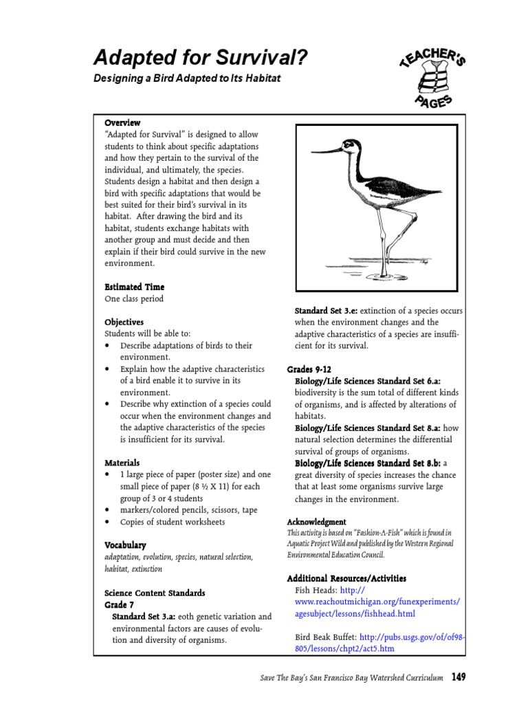 Adapted for Survival | Habitat | Adaptation