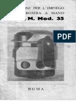 Italian SRCM MOD 35 Grenades
