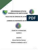 Silabo Quimica I 2017-2