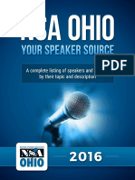 Business Speakers, Corporate Speakers and Motivational Speakers in Ohio