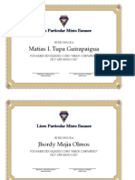 Diplomas Mejor Compañero
