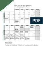 Calendario de Finalización Utp 2016