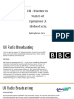 lo1 - understand the structure and organisation of uk radio broadcasting