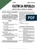 Lei do trabalho Domestico Mocambique