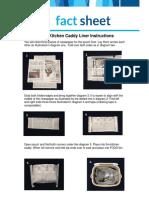 Origami Caddy Liner Factsheet