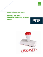 Whitepaper BRC Study of Unannounced Audits