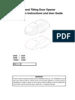 E Series Garage Door Opener Manual
