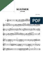 [Music Score] Klezmer Lebedik - Band and Parts Partituras - Clarinete Contrabajo Saxo Trompeta Trombon
